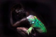 body painting animals - Google Search