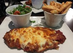 Chicken parma from The Imperial Hotel, Bourke St.