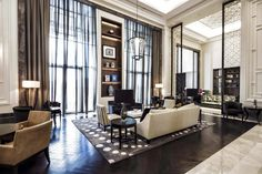modern art deco living room decor with contemporary furniture