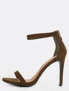 10bdbb42eaba5 Single Strap Stiletto Heels OLIVE