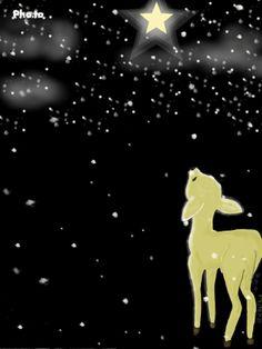 Bright Star I see tonight* Gif Christmas Fairy, Christmas Wood, Christmas Images, Christmas Angels, Christmas Cards, Christmas Paintings On Canvas, Oil Pastel Art, Deer Art, Smart Art