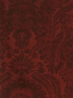 Andrew Martin Wallpaper Kew-Red $97.50 per 11 yard roll #interiors #decor #rubyredwallpaper