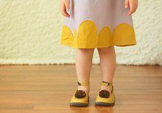 Girls Dress 2t 3t 4t 5t dress lavender mustard yellow linen Made to Order. $36.00, via Etsy.