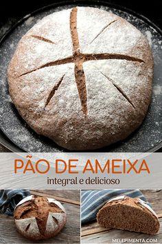 Pão integral de ameixa - uma receita funcional, rica em fibras e simplesmente deliciosa. Deixe o aroma de pão caseiro tomar conta da sua casa, feito com farinha integral e ameixas secas, esse pão tem uma cor maravilhosa e sabor incrível. Faça esse pão caseiro com ameixa e muitas fibras. Ele é ótimo para o seu café da manhã saudável. Bread And Pastries, Dukan Diet, Bread Cake, Bread Baking, Carne, Good Food, Food And Drink, Low Carb, Favorite Recipes