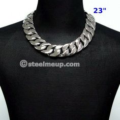 Stainless Steel Huge Heavy Men Chain Necklace 31mm