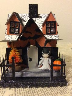 Isa Creative Musings: More Vintage Inspired Putz Halloween Houses