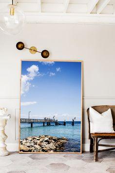Seaside Jetty Photographic Print | Extra Large Size | © Kara Rosenlund