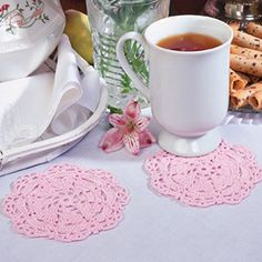 Heart-To-Heart Coaster pattern|Crochet coaster pattern - Leisurearts