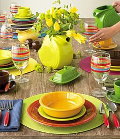 12 best Fiestaware ideas images on Pinterest | Tablescapes, Table ...
