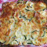 Heerlijke koolhydraatarme ovenschotel met courgette, ei en paprika.