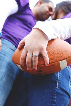 Sweet Football-Themed Save the Date Session   Abigail Kuzia Photography