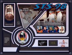 STS-98 Crew poster