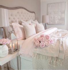 30 Cozy Romantic Bedroom Design Ideas For Comfortable Bedding bedroomdecor bedroomideas bedroomdesign Cozy Bedroom, Trendy Bedroom, Home Decor Bedroom, Girls Bedroom, Bedroom Ideas, Shabby Bedroom, White Bedroom, Bedroom Designs, Modern Bedroom