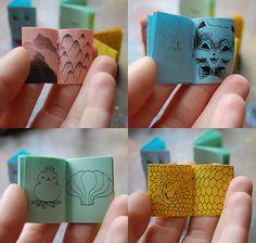 tiny illustrated miniature books