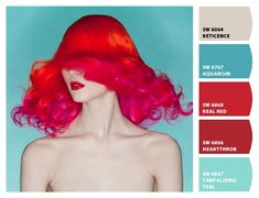 aqua red colors from Chip It! by Sherwin-Williams