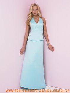 2012 schlichtes elegantes Abendkleid aus Satin V-Ausschnitt