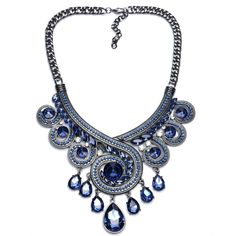 Wedding Bridal Formal Party Prom Jewelry Rainbow Crystal Pendant Choker Maxi Colar Women Statement Necklace Collier Femme Bijoux