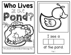 Spring POND life Printable Book Guided Reading with