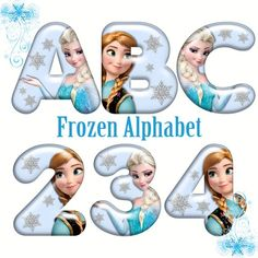 Beautiful digital alphabets that can be used in a variety of ways! Happy Birthday Words, Happy Birthday Printable, Birthday Letters, Birthday Images, Elsa Birthday, Frozen Birthday Party, Frozen Party, Frozen Font, Frozen Theme