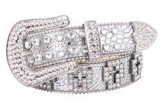 bling cross ring | Beltiscool.com: Western Rhinestone Cross Ornaments Croco Print Leather ...