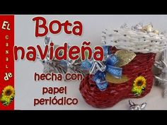 Campana navideña modelo 1 hecha con papel periódico - Christmas bell model 1 made whit newspaper - YouTube