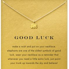 """Good luck Necklace(NWT)⭐️PRICE FIRM ⭐️ Very cute elephant necklace, brand new in package. This is not doggeared brand. 16"""" chain with a 2"""" extender. PRICE IS FIRM Jewelry Bracelets"""