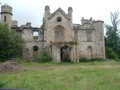 One of Scotland's great houses - left to rot in North Lanarkshire.  Built in 1820 by the Lockhart family to replace a stately home that burned down.  It is near the site of the tower owned by the Baird family who were executed for betraying the Scottish King Robert Bruce.  The house stands next to the Clyde Walkway.