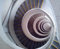 Spiral Stair Case Looking Downwards