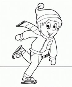 Ice Skating Winter Coloring Pages For Kids - Coloring Ideas Scooby Doo Coloring Pages, Whale Coloring Pages, Garden Coloring Pages, Pokemon Coloring Pages, Free Printable Coloring Pages, Coloring For Kids, Coloring Pages For Kids, Coloring Books, Be Cool Scooby Doo