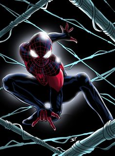 Ultimate Spiderman Miles Morales pose by Jonathan Piccini