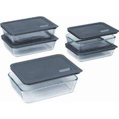 Pyrex No Leak Lids 12 Pc Storage Set Products Glass Storage Containers Storage Sets Kitchen Storage