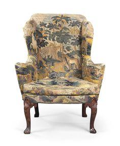 c1720-30 AN IRISH GEORGE II WALNUT AND NEEDLEWORK WING ARMCHAIR CIRCA 1720-30 Price realised  GBP 16,250