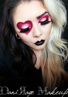 Queen of Hearts Inspired look! Check here for Tutorial! -->…