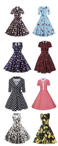I love these dresses! So cute and retro! <3