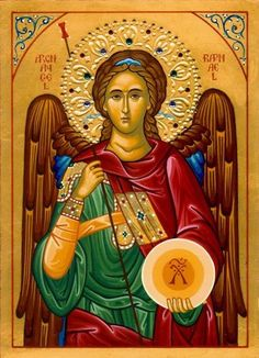 Eastern orthodox icon of Archangel Raphael. Religious Images, Religious Icons, Religious Art, Catholic Archangels, St Raphael, Raphael Angel, San Rafael, Byzantine Icons, Byzantine Art