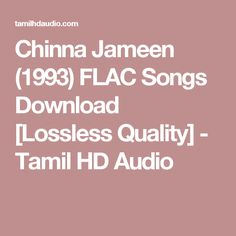Chinna Jameen (1993) FLAC Songs Download [Lossless Quality] - Tamil HD Audio