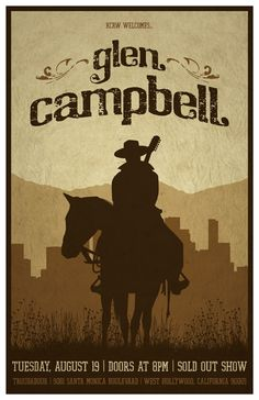 aca4ac282d8 2008 Concert Posters - Glen Campbell by DKNG. Western Ways