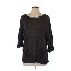 274df15bc31 Pre-owned Wrap Pullover Sweater Size 12  Dark Purple Women s Tops ( 31) ❤  liked on Polyvore featuring tops
