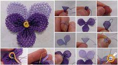Filet Crochet, Irish Crochet, Crochet Stitches, Knitted Poncho, Knitted Shawls, Baby Knitting Patterns, Crochet Patterns, Beaded Flowers Patterns, Needle Lace