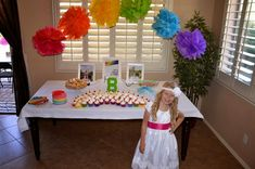 Marci Coombs: Rainbow Themed Baptism Party.