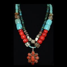 coral and turquoise Parijata Designs  www.parijatarocks.com
