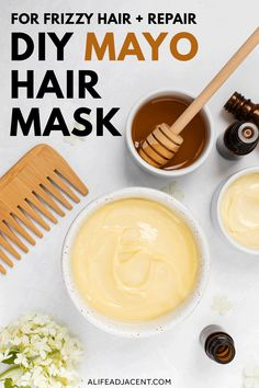 DIY Mayo Hair Mask for Frizzy Hair + Repair