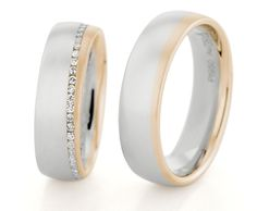 MATCHING PAIR OF PLATINUM & 18CT ROSE GOLD WEDDING RINGS BY CHRISTIAN BAUER