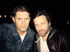 """Jensen Ackles on Twitter: """"The bartender is not happy with all the selfies...I feel his pain. @RobBenedict #lastcall """""""