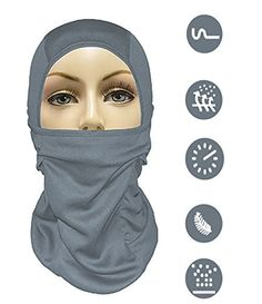 MJ Gear [9 in 1] Full Face Mask Motorcycle Balaclava, Running Mask for Cold or Hot Weather Life Time Warranty (Gray) - http://www.exercisejoy.com/mj-gear-9-in-1-full-face-mask-motorcycle-balaclava-running-mask-for-cold-or-hot-weather-life-time-warranty-gray/fitness/