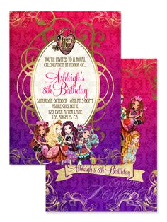Ever After High - Digital Birthday Invitation