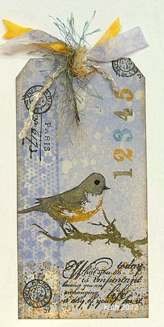 Beautiful Bird Collage Tag...