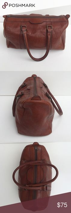 "Vintage Leather Handbag Made in Italy Great bag!  Light wear and tear please review images.  Pre owned good condition. Interior and exterior.  Size 13.5"" w x 8"" h x  6""d. Bags Satchels"