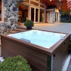 love this jacuzzi layout House, Patio Design, Jacuzzi Hot Tub, Modern Hot Tubs, Jacuzzi, Mini Pool