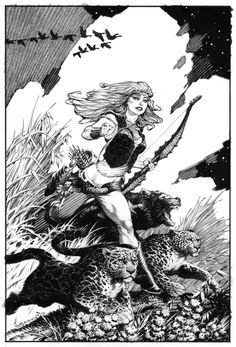 Mark Schultz - Blossom (from Fables). beautiful piece by schultz.